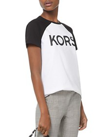 MICHAEL Michael Kors - Logo Cotton Baseball Tee