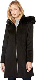 London Fog Zip Front Wool with Hood