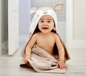Pottery Barn Fawn Baby Hooded Towel