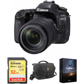 Canon EOS 80D DSLR Camera with 18-135mm Lens and A