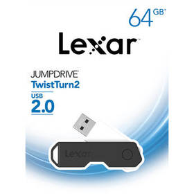 Lexar 64GB JumpDrive TwistTurn2 USB Flash Drive (B