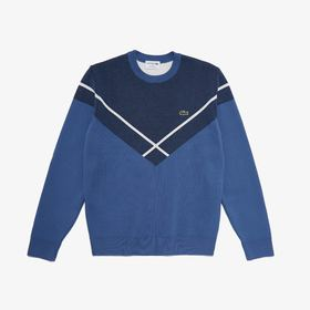 Lacoste Men's Made In France Crewneck Jacquard Swe