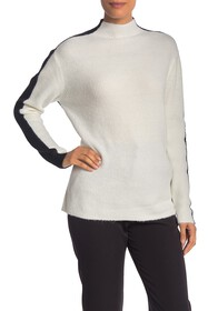 Vince Camuto Colorblock Mock Neck Knit Sweater
