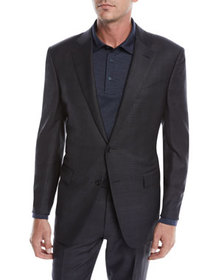 Ermenegildo Zegna Men's Check Wool Two-Piece Suit