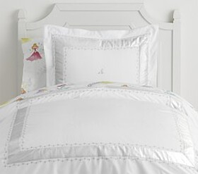 Pottery Barn Metallic Star Border Duvet