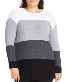 VINCE CAMUTO Plus - Waffle-Knit Pocket Sweater