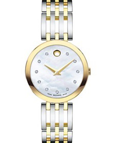 Movado - Esperanza Diamond Two-Tone Watch, 28mm