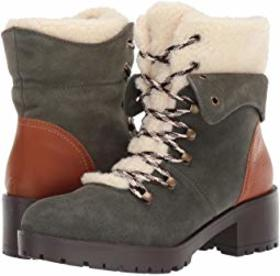 SKECHERS Mid Sherpa Tongue Hiker Boots
