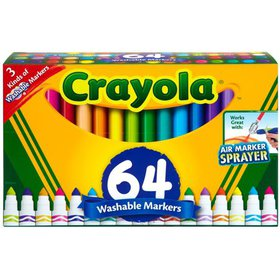 Crayola Washable Markers Set, Broad Line, Coloring