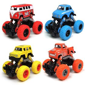 Toddler Toys Pullback Cars, 4-Packs Cars Toys Truc