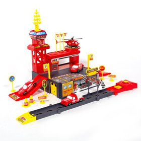 iHubdeal DIY Fire Station Toy Playset for Kids wit