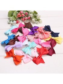 20 Colors Hair Clips Alligator Clips Girls Bow Rib