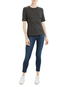 Theory - Short Sleeve Fitted Shell Top