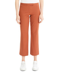 Theory Low-Rise Cropped Flare Pants