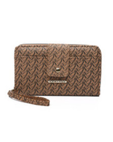 Rampage signature printed wallet w/ wristlet strap