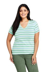 Lands End Women's Plus Size Relaxed Supima Cotton