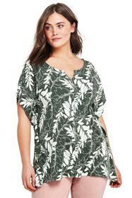 Lands End Women's Plus Size Relaxed Dolman Sleeve