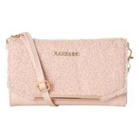 Womens Rampage Shearling Trim Wallet on a String