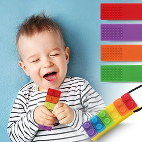 Sensory Chew Necklaces Block Chewelry for Boys and