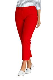 Lands End Women's Plus Size Mid Rise Chino Crop Pa