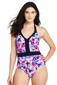 Lands End Women's Perfect V-neck One Piece Swimsui