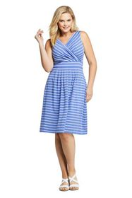 Lands End Women's Plus Size Banded Waist Fit and F