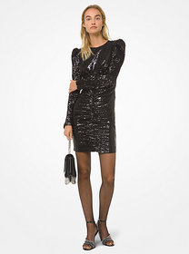 michael michael kors Sequined Puff-Shoulder Mini D