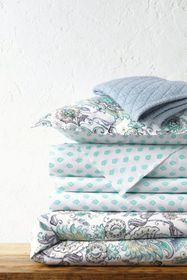 Lands End Italian Percale Patterned Reversible Duv