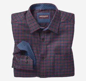 Johnston Murphy European Dark Layered Check Shirt