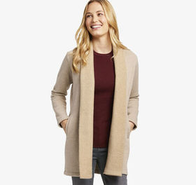 Johnston Murphy Cozy Drape-Front Cardigan