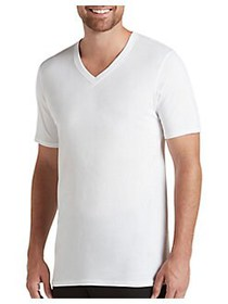 Jockey 3-Pack Staycool+ V-Neck T-Shirts WHITE