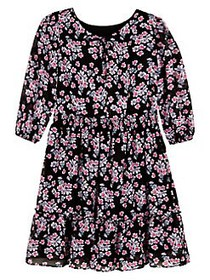 Ally B Girl's Floral Pleated Dress FLORAL MULTI