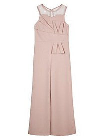 Ally B Girl's Illusion-Neck Jumpsuit ROSE