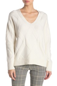 REISS Soph Relaxed V-Neck Sweater