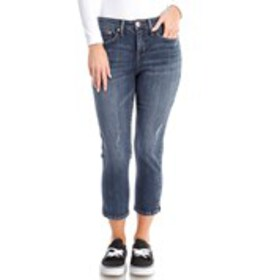 SEVEN 7 One Button Distressed Capri Jeans