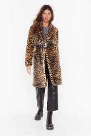 Nasty Gal Beige Cold Cold Hearted Leopard Faux Fur