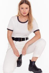 Nasty Gal Cream Contrasts Do Attract Plus Ringer T