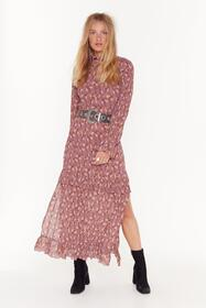 Nasty Gal Nude Don't Grow Without Me Floral Maxi D