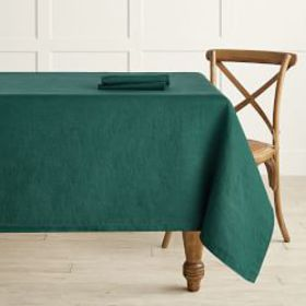Italian Washed Linen Tablecloth