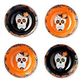 Day of the Dead Candy Bowls, Set of 4, Mixed