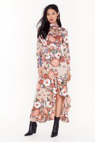 Nasty Gal Nude Ignoring Floral the Facts High Neck