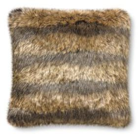 Oversized Faux Fur Pillow Cover, Marble Coyote