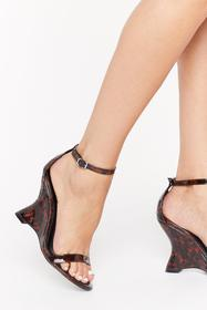 Nasty Gal Brown We Tort Wrong Patent Faux Leather