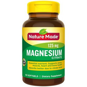 Nature Made Magnesium Citrate 250 mg Softgels - 60