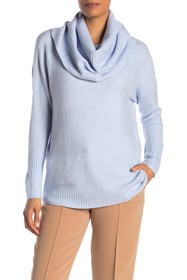 French Connection Cowl Neck Ribbed Flossy Sweater