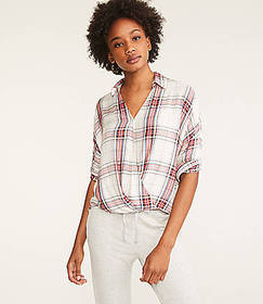 Lou & Grey Plaid Cozy Wrap Shirt