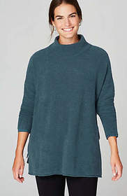 Pure Jill Side-Tie Mock-Neck Sweater