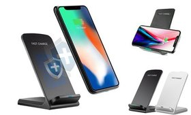 Qi Wireless Fast Charger Stand Dock Pad For Apple