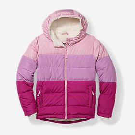 Girls' Classic Down Hooded Jacket