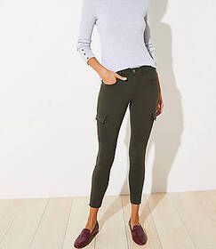 5 Pocket Sateen Cargo Leggings